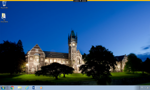 Student Desktop screenshot showing Windows desktop with clocktower wallpaper