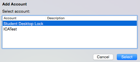 Dialogue box showing Student Desktop Lock selected