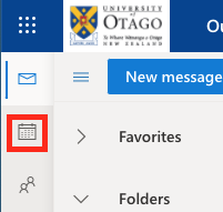 Calendar icon at left of StudentMail window