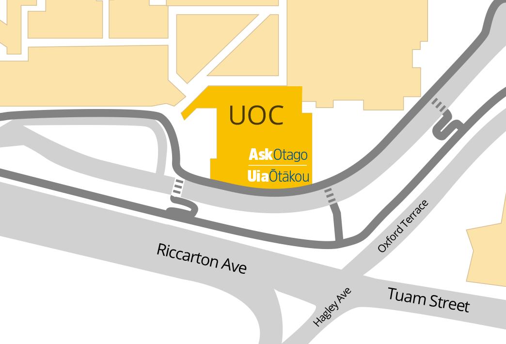 Christchurch campus map