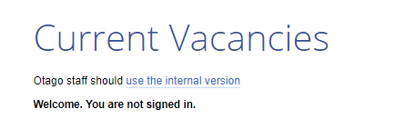 Otago staff should use the internal version