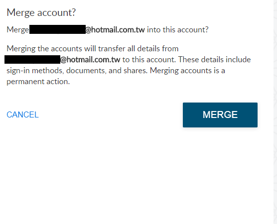 Merge request prompt in My eQuals