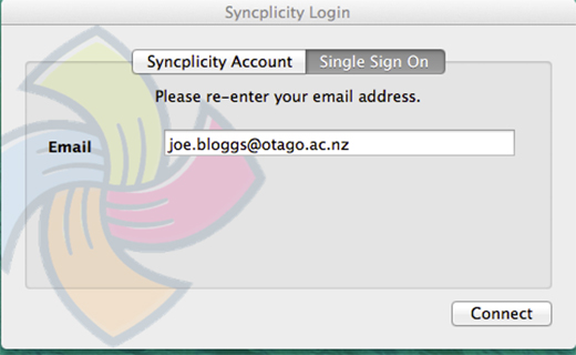 Log in to Syncplicity using your email address