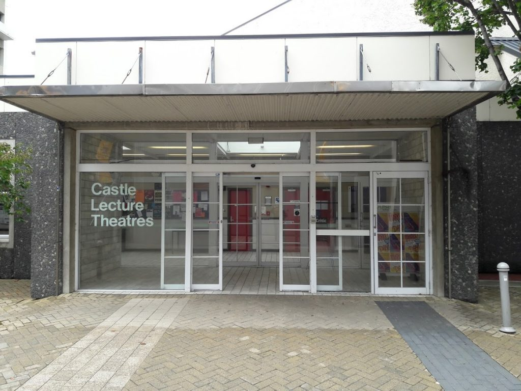Photo of entrance to the Castle Lecture Theatres