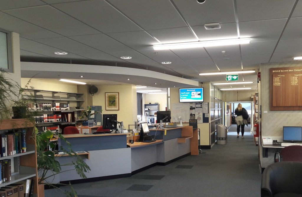 Photo of Law Library Reception, Richardson Building