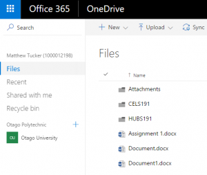 Your documents saved in OneDrive