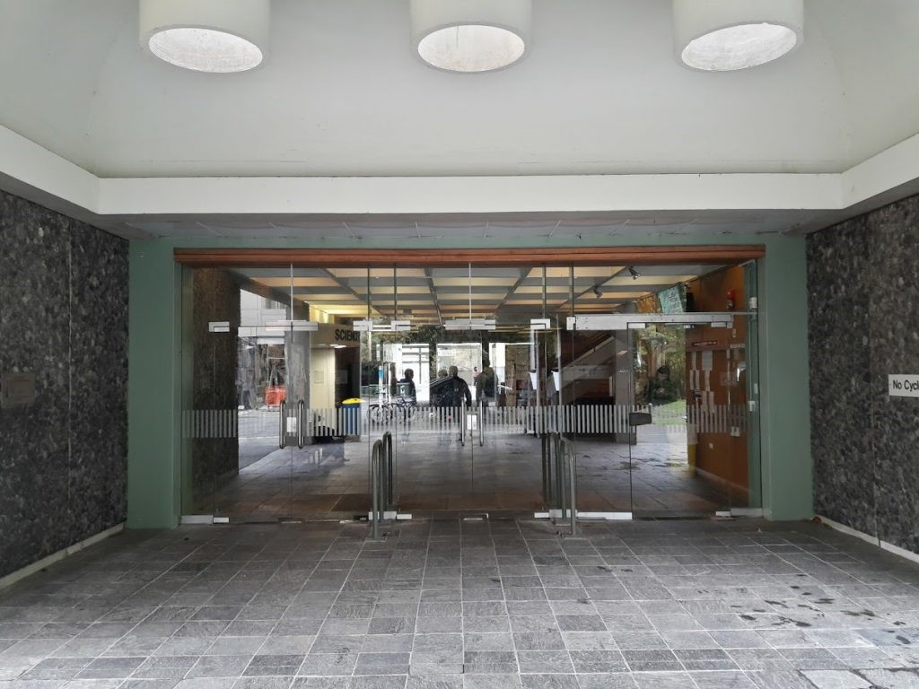 Science 3 Building entrance
