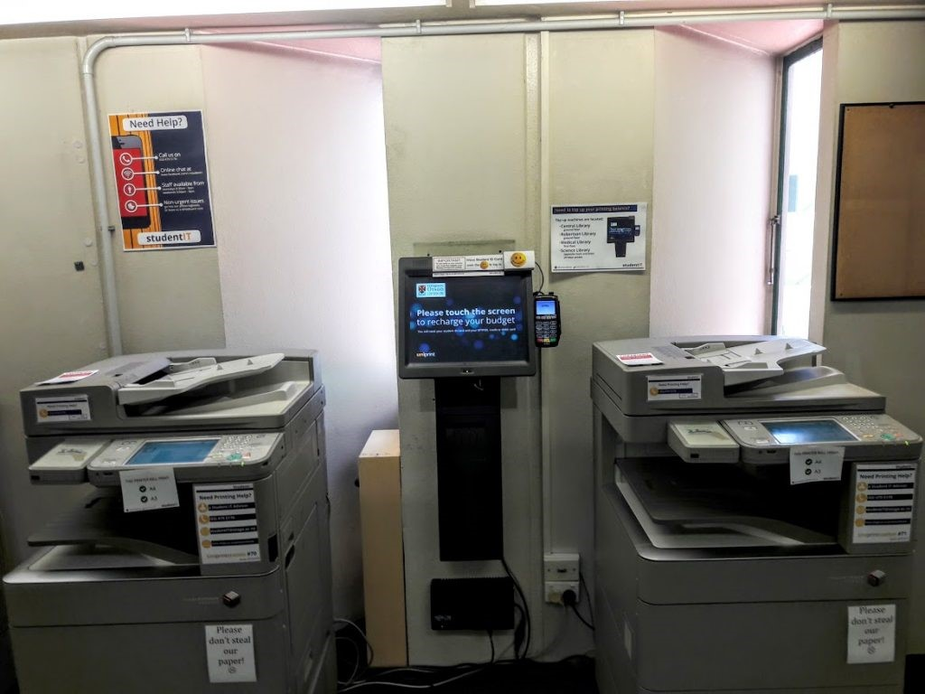 Printers at the Health Sciences Library