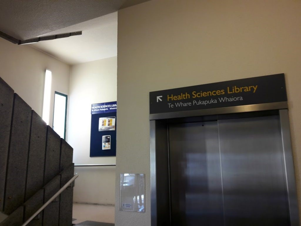 Stairs to the Health Sciences Library