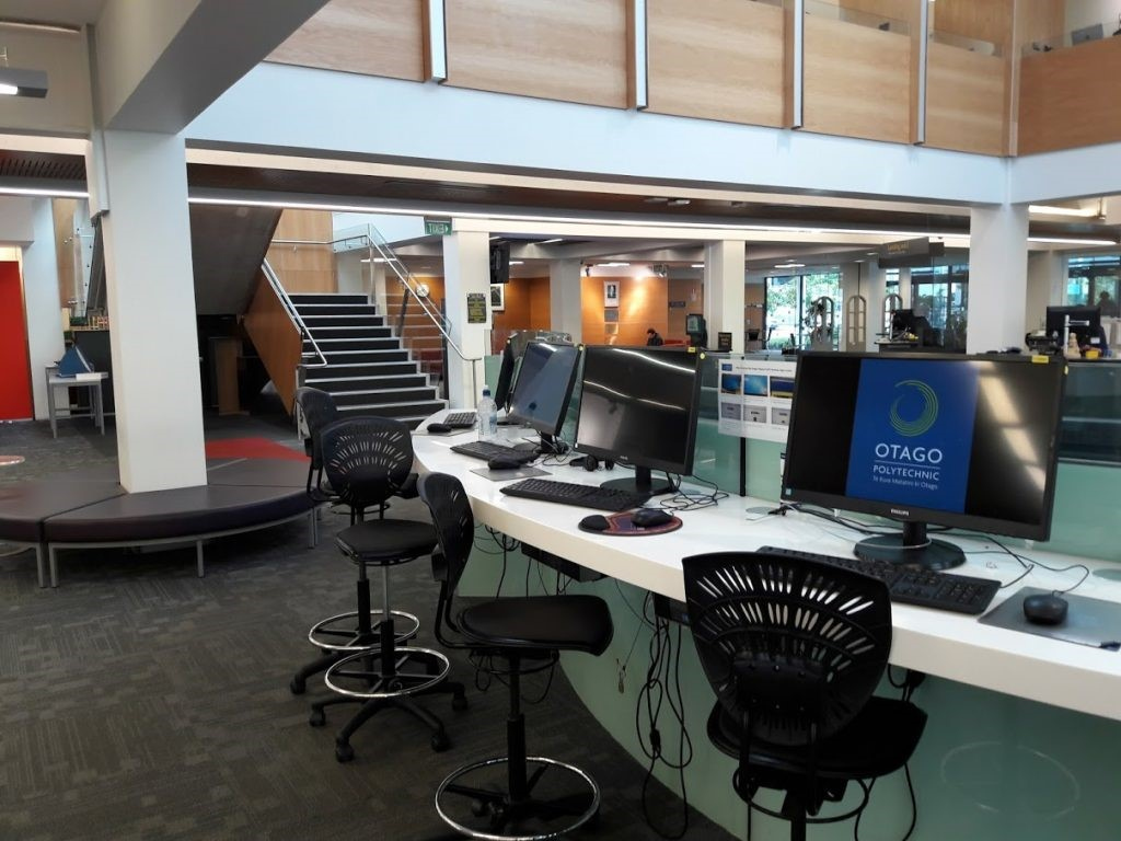 Main floor of the Robertson Library