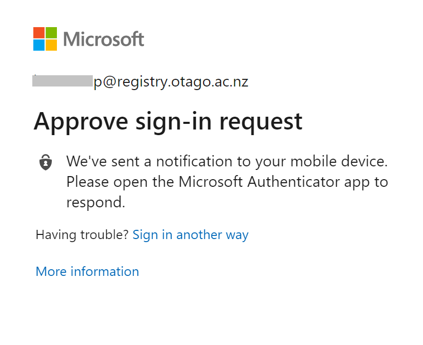 Approve sign-in request in Office 365