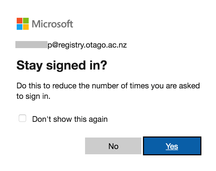 Staying signed in in Office 365