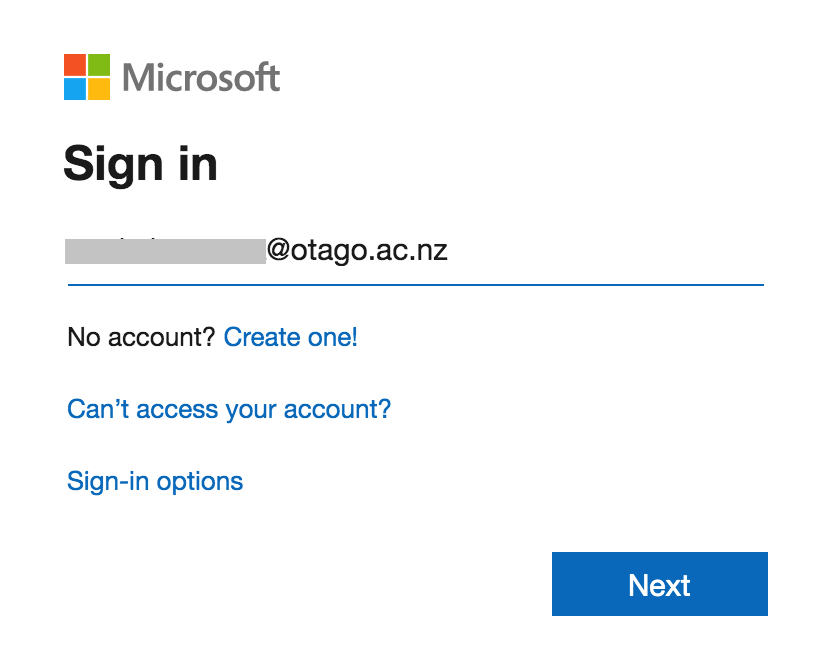 Sign in to Office 365 with your staff email address