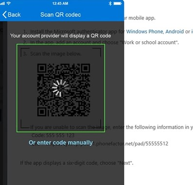 Scanning QR code on your phone