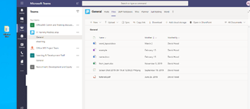 The main Files area in Microsoft Teams