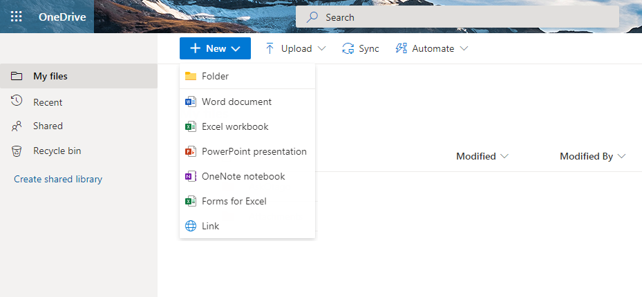 Sharing a file or folder in OneDrive