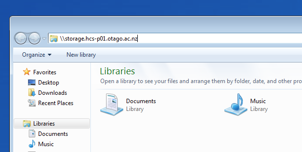 Looking for a file share in Windows File Explorer