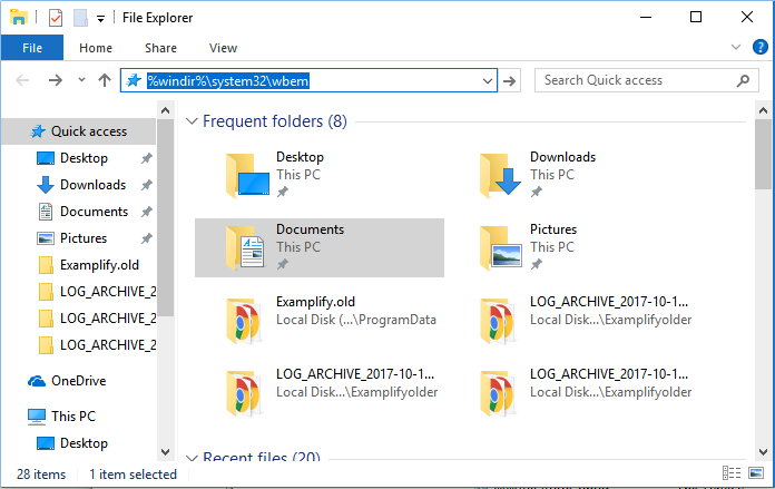 Entering text into File Explorer search bar