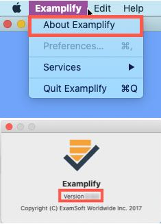 Locating Examplify version number in Mac OS