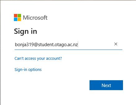 Microsoft sign in 2 username