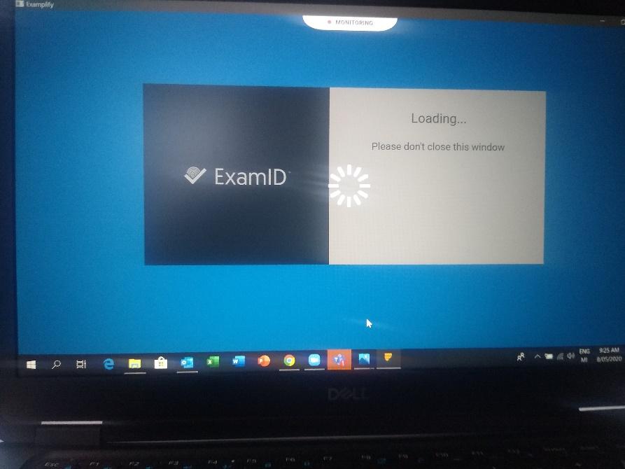 ExamID loading screen