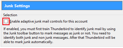 screenshot of step 2 Junk Settings window in Microsoft 365