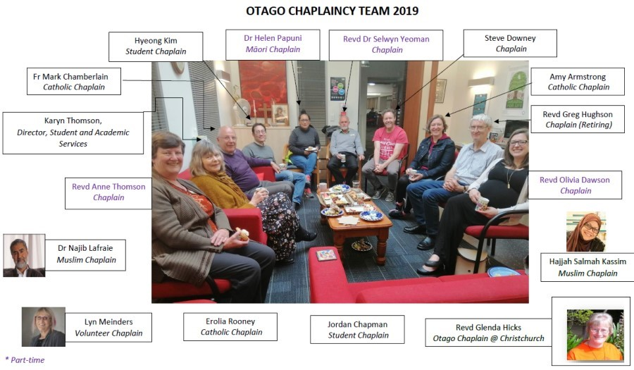 The 2019 Chaplaincy team