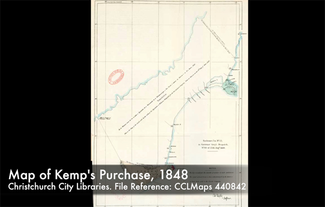 Map of Kemp's purchase