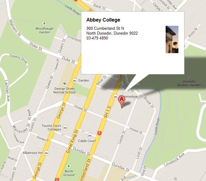 Map of Abbey College