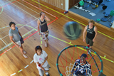 A game of Social Basketball on our very own Basketball Court