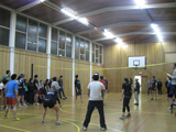 Volleyball against City College in our Gymnasium