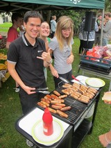 Some of the Sub Wardens crank out the BBQ at the Arana Carnival
