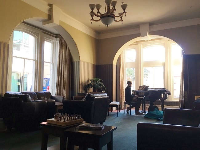 Formal room grand piano