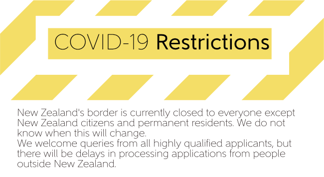 New Zealands borders are closed due to the Covid-19 pandemic processing applications from overseas will be delayed