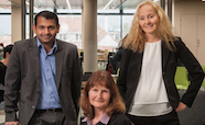 Dr Pallab Biswas, Associate Professor Ros Whiting and Dr Helen Roberts thumb