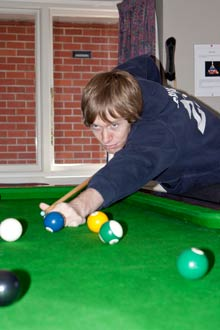 Student Playing Pool
