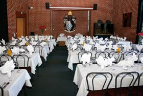 Carrington's Dining Room set out for a Valedictory Dinner 2