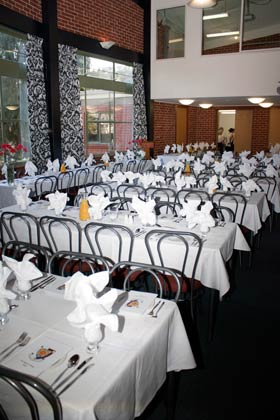 Carrington's Dining Room set out for a Valedictory Dinner
