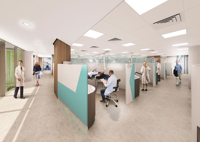 Clinics in the new Dentistry building