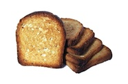 Photo of a stack of wholemeal toast