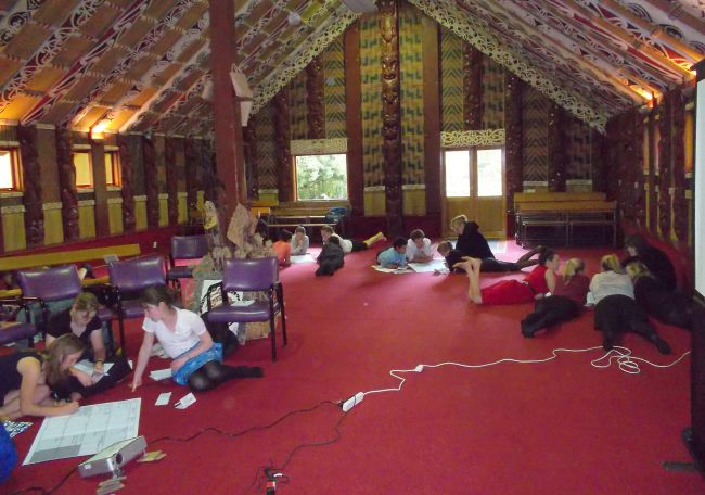 RMIP students at a marae