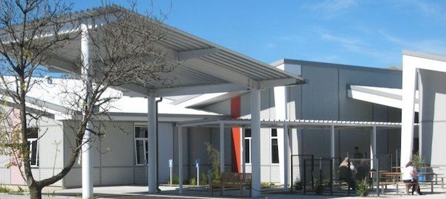 Wairau hospital entrance, blenheim
