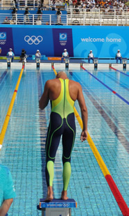 A swimmer at the 2004 Athens Olympics