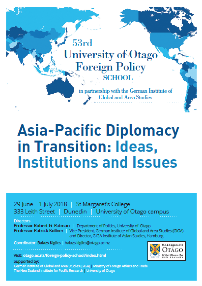 53rd Foreign Policy School Programme, Otago Foreign Policy School