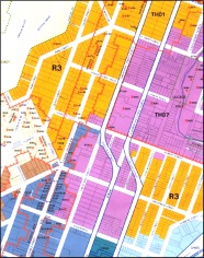 A section of the Dunedin City District Plan showing student housing zones