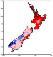 Temperature variation across New Zealand – caused by multiple mesco-scale factors