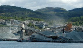 gravel extraction in Norway