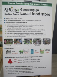 poster featuring a local foodstall in Seoul