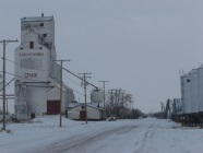 grain elevator in agricultural dependent town of Craik_Saskatchewan_Canada
