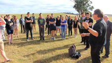 2013 students on GEOG280 field camp with lecturer Professor Etienne Nel_image by Adrian Nel